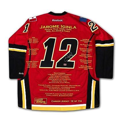 b6ca0ca490b Jarome Iginla Career Jersey #12 of 112 - Autographed - Calgary Flames
