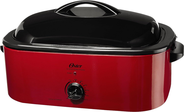 Oster Smoker Roaster Oven, 16-Quart, Red Smoke CKSTROSMK18