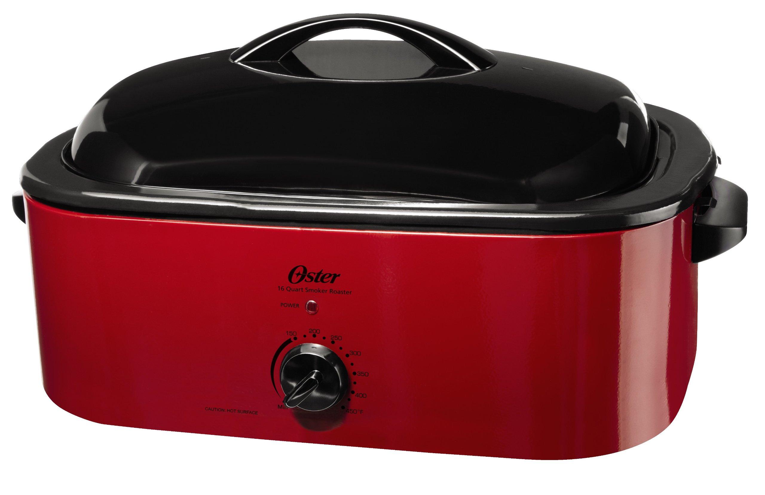 Oster Smoker Roaster Oven, 16-Quart, Red Smoke (CKSTROSMK18)