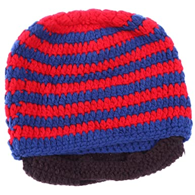 MagiDeal Mens Womens Viking Beard Beanie Hat Handmade Winter Warm Wind  Guard Mask Ski Caps - 7b2256328a