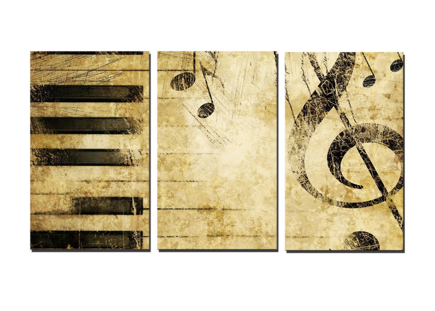 Galleon - NAN Wind Note And Piano\'S Keys In The Paper Wall Art ...