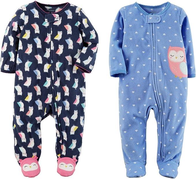 Carter/'s Boys Baby Toddler Footed Fleece Pajamas Sleeper Snowman   Sz 6 mo