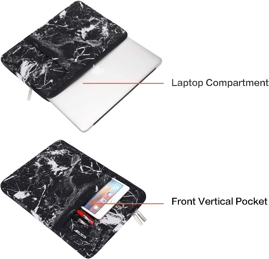 MOSISO Laptop Sleeve Bag Compatible with 15.6 inch Thinkpad Chromebook Notebook Tablet Space Gray Vertical Style Water Repellent Polyester Protective Case Cover with Accessory Pocket