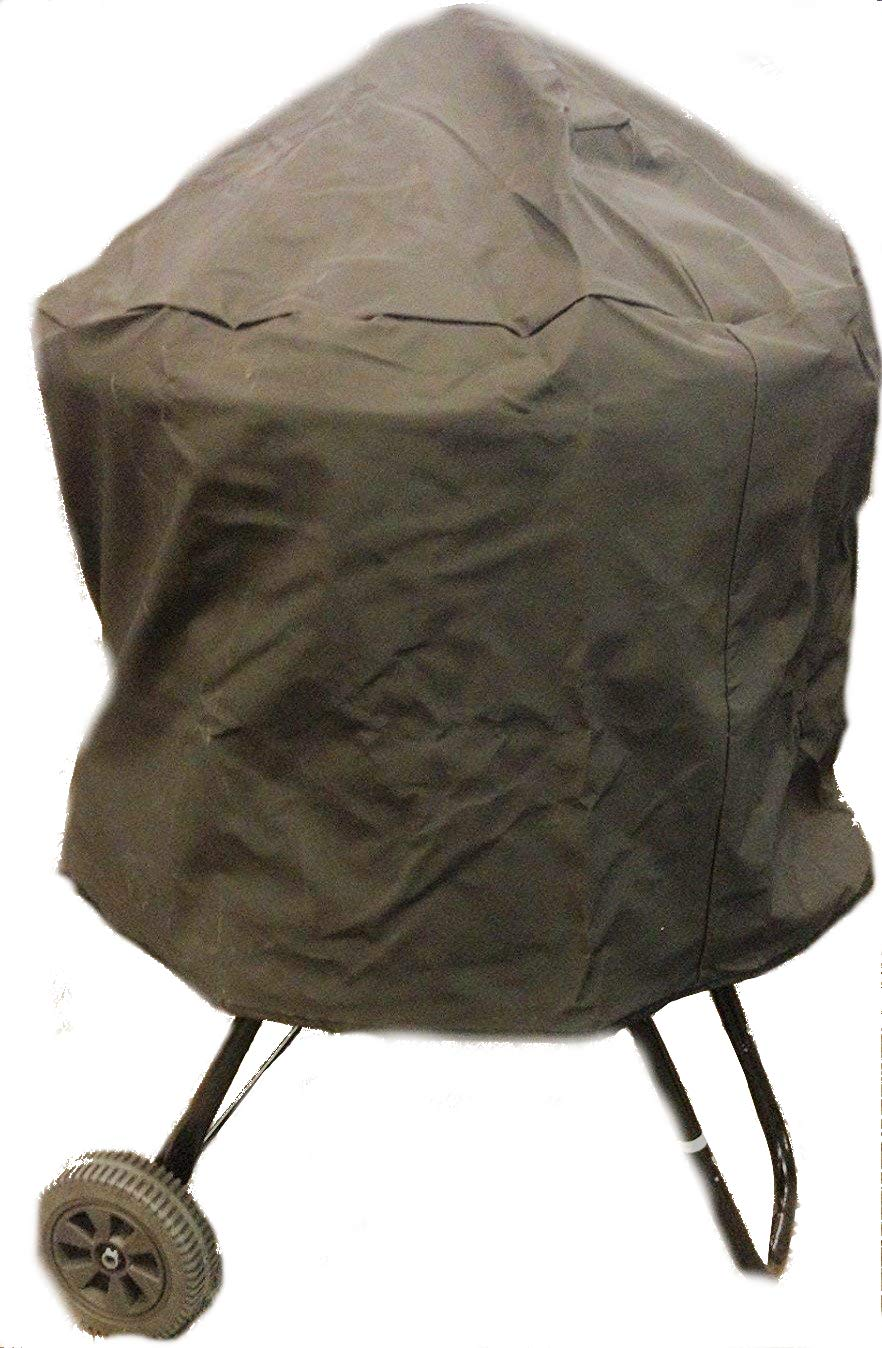 RCK Sales Premium Vinyl Black Round Fire Pit Storage Cover for 28'' to 30'' Pits in 3/4 Length Cover