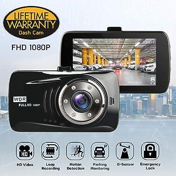 Cámara de Coche Dash Cam 1080P FHD Gran Ángulo, Cámara para Coche Grabadora DVR,