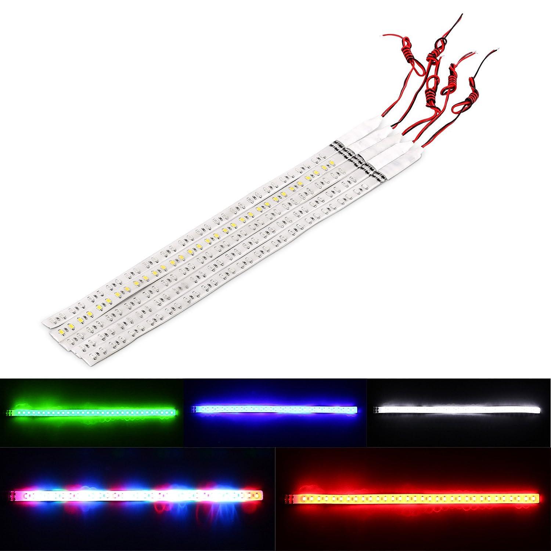 ONEVER Wasserdicht 12V 30cm//11,8 32-LED Auto Flexible LED DRL Licht-Streifen-Flash-Strobe ?nderung automatisch f/¨/¹r Motorrad-Fahrrad-Platten-Licht K/¨/¹hlergrill Warnleuchten Dekoration
