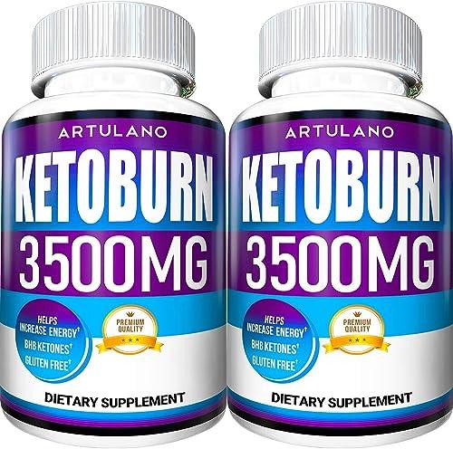 Keto Pills – 2 Pack 120 Capsules – 5X Potent – Advanced Keto Burn Diet Pills – Best Exogenous Ketones BHB Supplement for Women and Men – Boost Energy and Metabolism – 100 Vegan