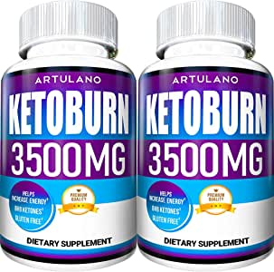 Keto Pills - 5X Potent (2-Pack | 3500MG) - Best Keto Burn Diet Pills - Boost Energy and Metabolism - Exogenous Keto BHB Supplement for Women and Men - 120 Capsules