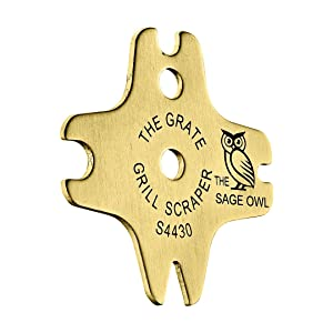 Safe Brass BBQ Grill Cleaner - These Heavy Duty Tools are Safer Than A Wire Brush - Makes Great Gifts for Men Who Have Everything - Regalos para Hombre - A Great Filler for Christmas Stockings