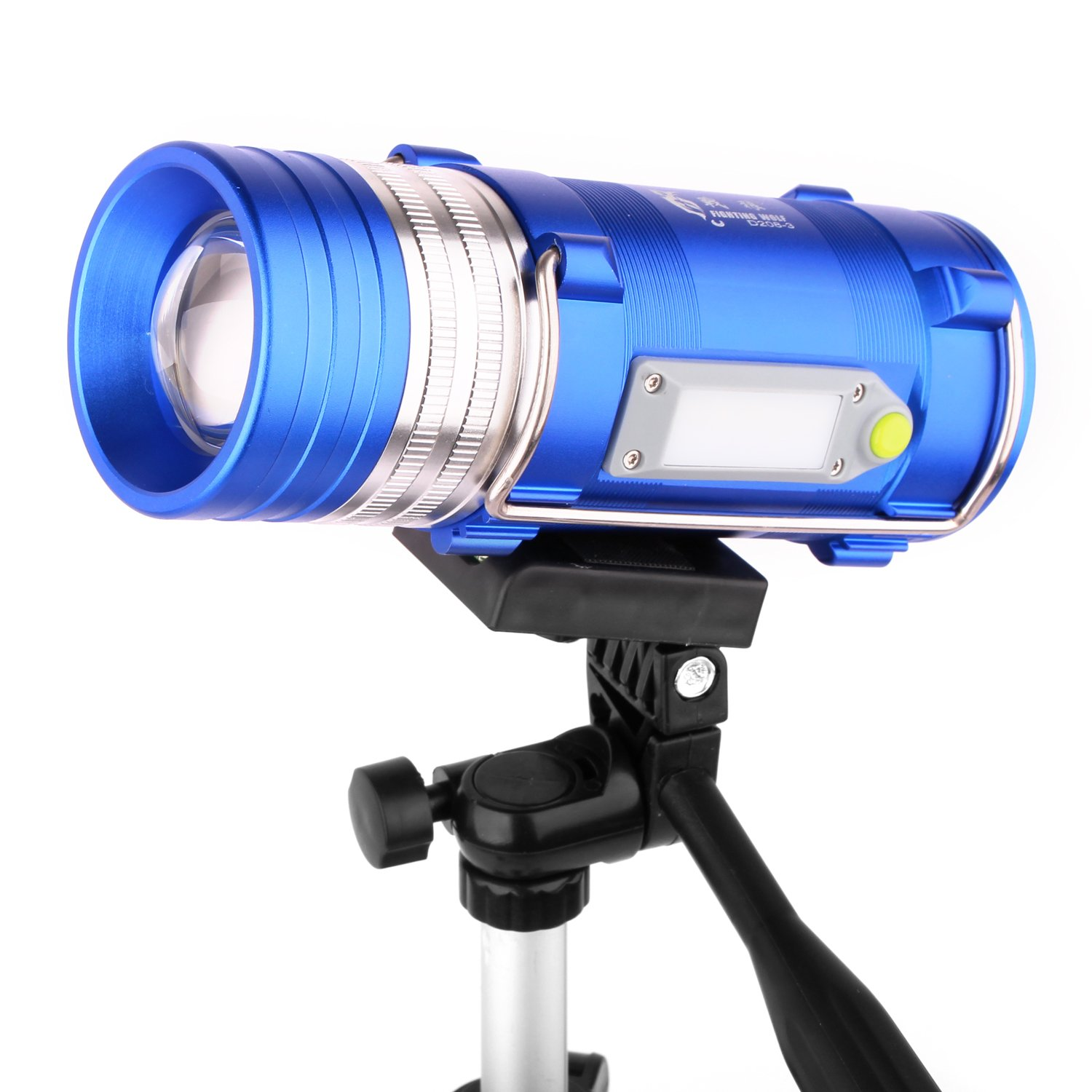 Fishing Light with Tripod Professional Waterproof Multi-functional Fishing Lamp Four LED Light Modes with Tripod,Perfect for Fishing, Hunting, Camping