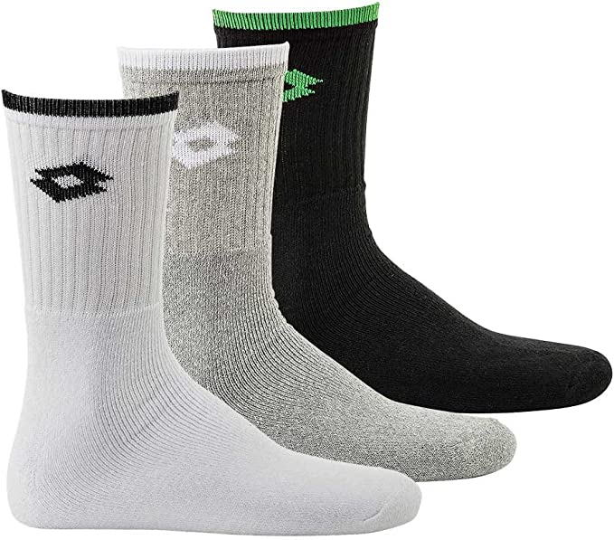 Lotto Tennis Crew Socks 3 Pack, Calcetines deportivos unisex ...