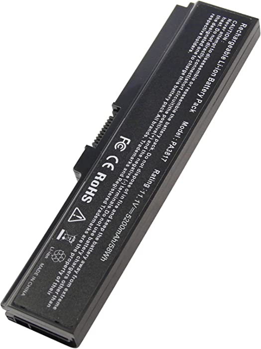 PA3817U-1BRS Battery for Toshiba Satellite L755 C655 M645 L750P L600 L675 L675D L700 L745 L750D L755D M640 P745 Series, Fit PA3818u-1BRS A3819U-1BRS …