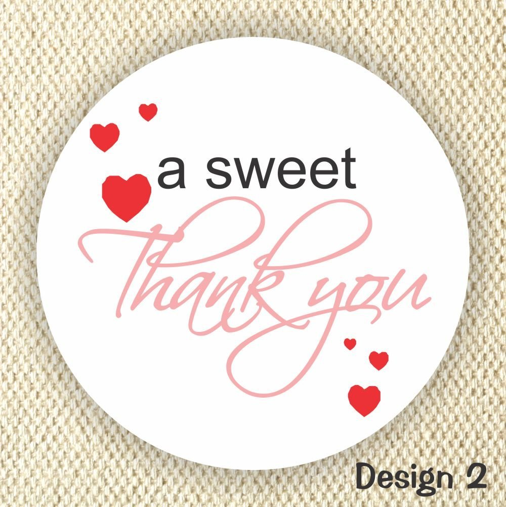 Amazon com thank you stickers wedding stickers anniversary stickers favor stickers heart stickers sweet thank you stickers handmade