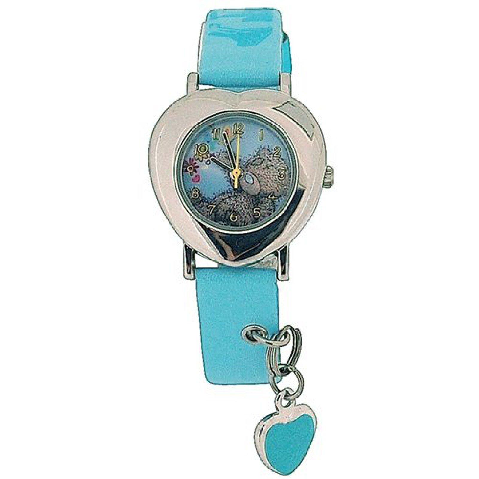 Childrens-Girls Analogue Me To You Tatty Teddy Blue Strap Watch With Charm MTY3B