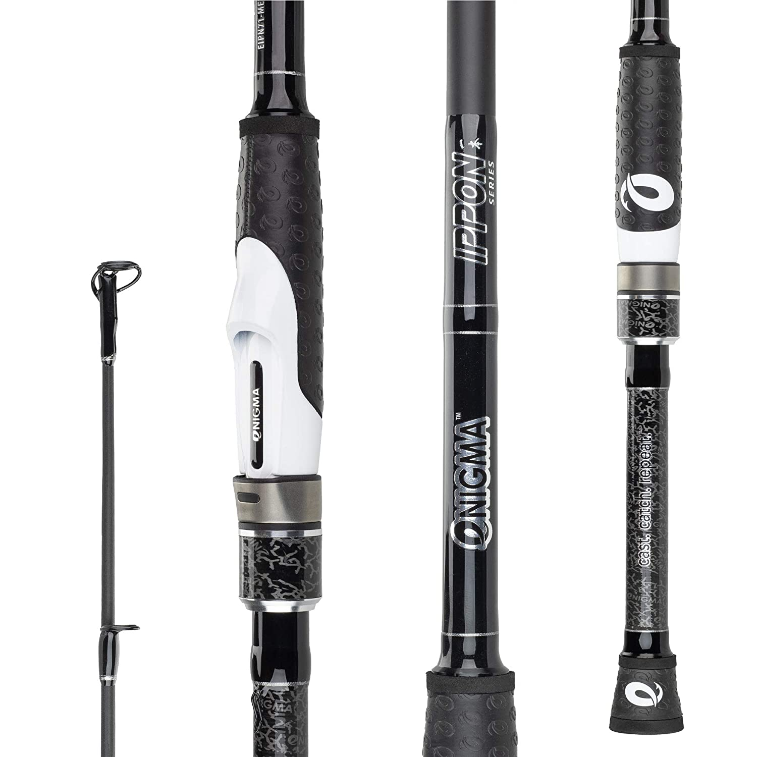 Enigma Fishing Equipment Accessories Phenom IPPON Series Fishing Pole – Spinning Rod Premium Fishing Rod with Custom E-Grip Handle