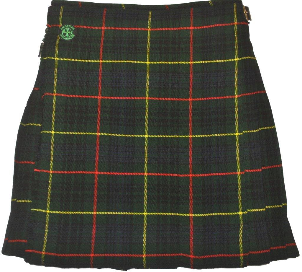 American Highlander Men's Hunting Tartan Kilt 50 Waist Green/Blue/Red/Yellow