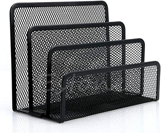 Retro Wire Paper Tray Desk Tidy Office Holder x 2 in /& out mail grey