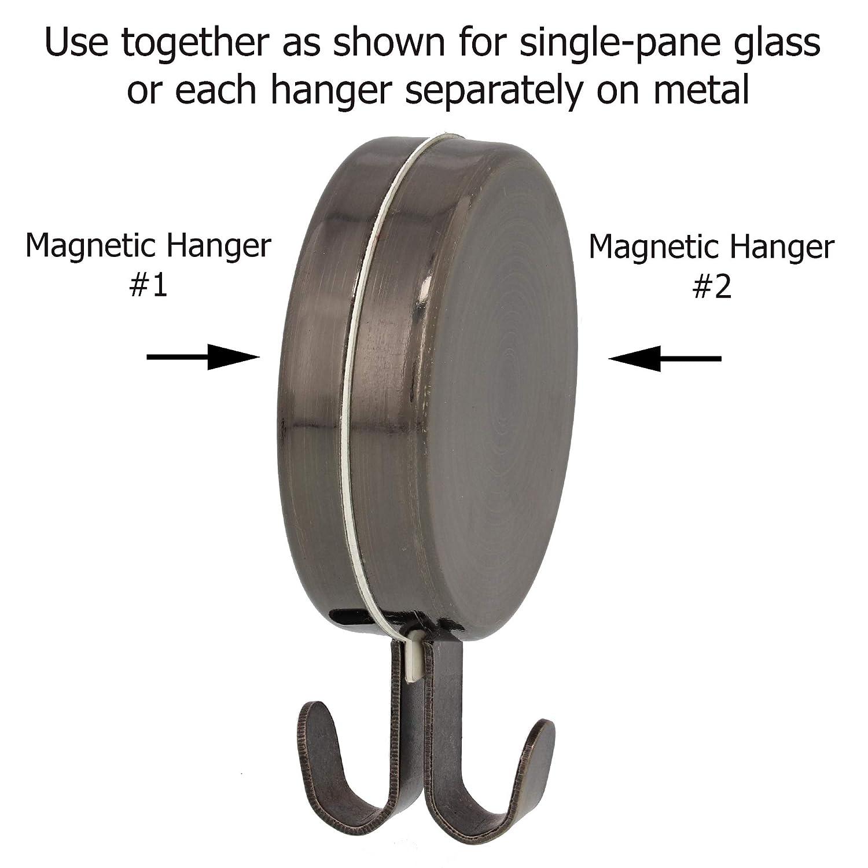 2-Pc Set Attract Magnetic Wreath Hanger Oil-Rubbed Bronze Haute Decor MWH203R