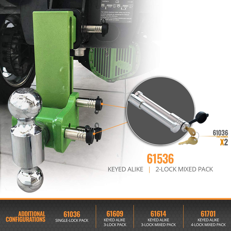 Inc 3 Pack InfiniteRule Security Fits: B/&W Trailer Hitches Hitch Locks 61609 Keyed Alike