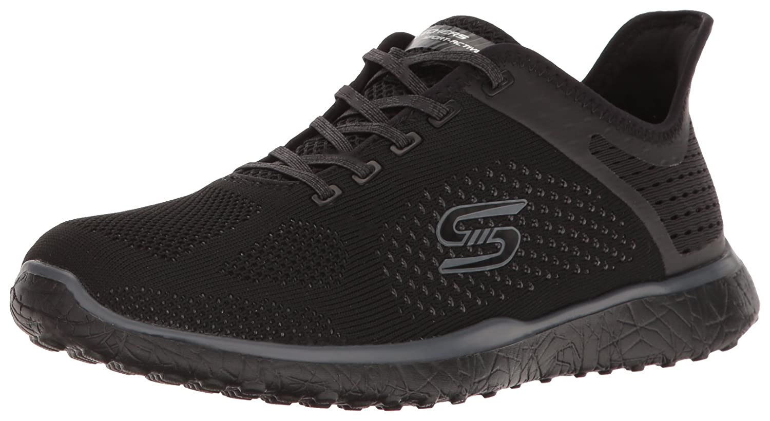 Skechers Sport Women's Microburst Supersonic Fashion Sneaker B01J2S1DN8 8 B(M) US|Black
