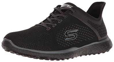 Skechers Women's Microburst Supersonic Slip-On Sneaker,Black/Black,US ...