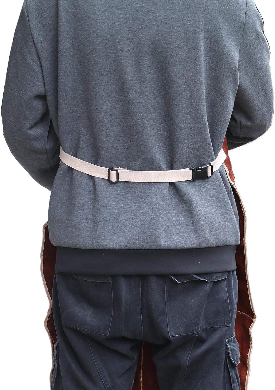 90x60cm Brun fonc/é EMSea Tablier de Soudage Poche Cuir de Vachette avec Boucle /à D/égagement Papide Longueur R/églable pour Hommes Femmes