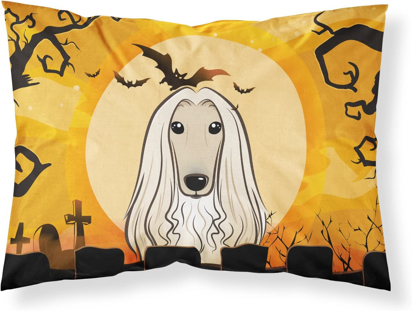 Caroline S Treasures Bb1802pillowcase Halloween Afghan Hound Fabric Standard Pillowcase Standard Multicolor Caroline S Treasures Home Kitchen