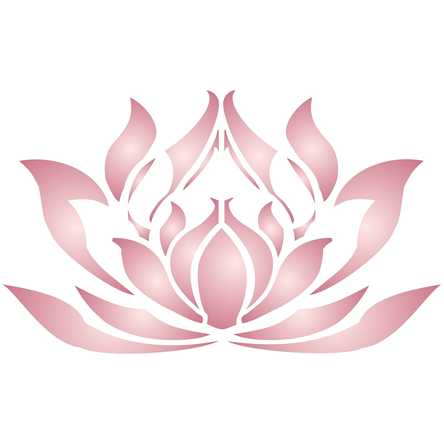 Amazon lotus flower stencil size 75w x 45h reusable amazon lotus flower stencil size 75w x 45h reusable wall stencils for painting best quality lotus blossom ideas use on walls floors izmirmasajfo Choice Image
