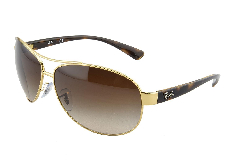 dadcda0b9da Amazon.com  Ray-Ban RB 3386-001 13 Arista Metal-Frame Sunglasses With Brown  Gradient Lens.  Ray-Ban  Clothing