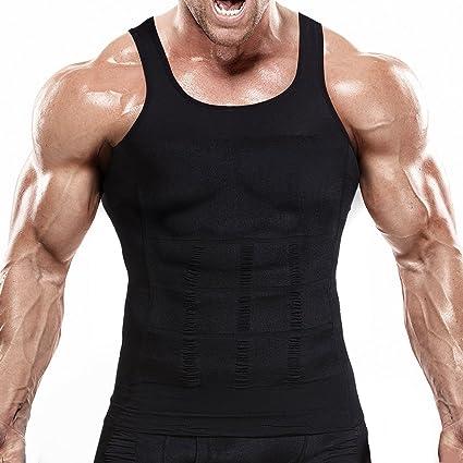 30d3db992b Hoter Mens Slimming Body Shaper Vest Shirt Abs Abdomen Slim (Top Edition)
