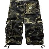 EAEAO Mens Cargo Shorts Relaxed Fit Multi-Pocket Outdoor Cargo Shorts