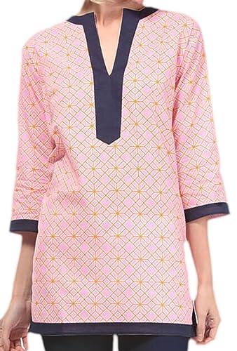 Zauberkirschen - Camisas - Opaco - para mujer Rosa 44