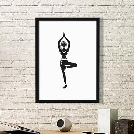 DIYthinker Chica de la Yoga una Pierna Soporte Mantenga ...