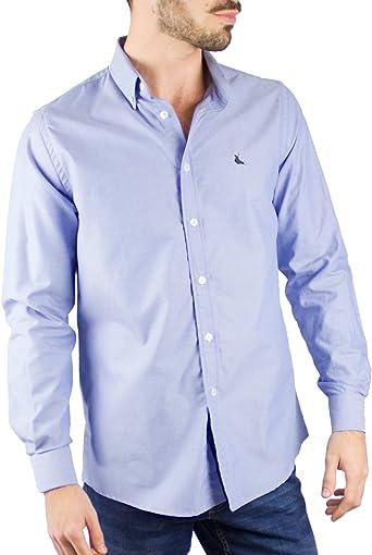 Piel de Toro Basica Oxford Camisa de Vestir, Azul (Azul 08), Large (Tamaño del Fabricante:L) para Hombre: Amazon.es: Ropa y accesorios