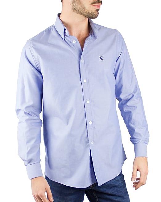 Piel de Toro Basica Oxford Camisa de Vestir, Azul (Azul 08), Large ...