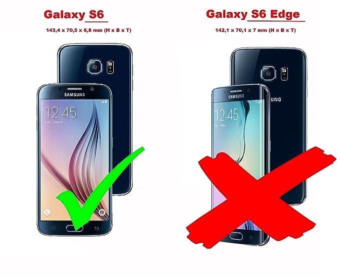 Cadorabo Funda Libro para Samsung Galaxy S6 en MARRÓN CAFÉ: Amazon.es: Electrónica