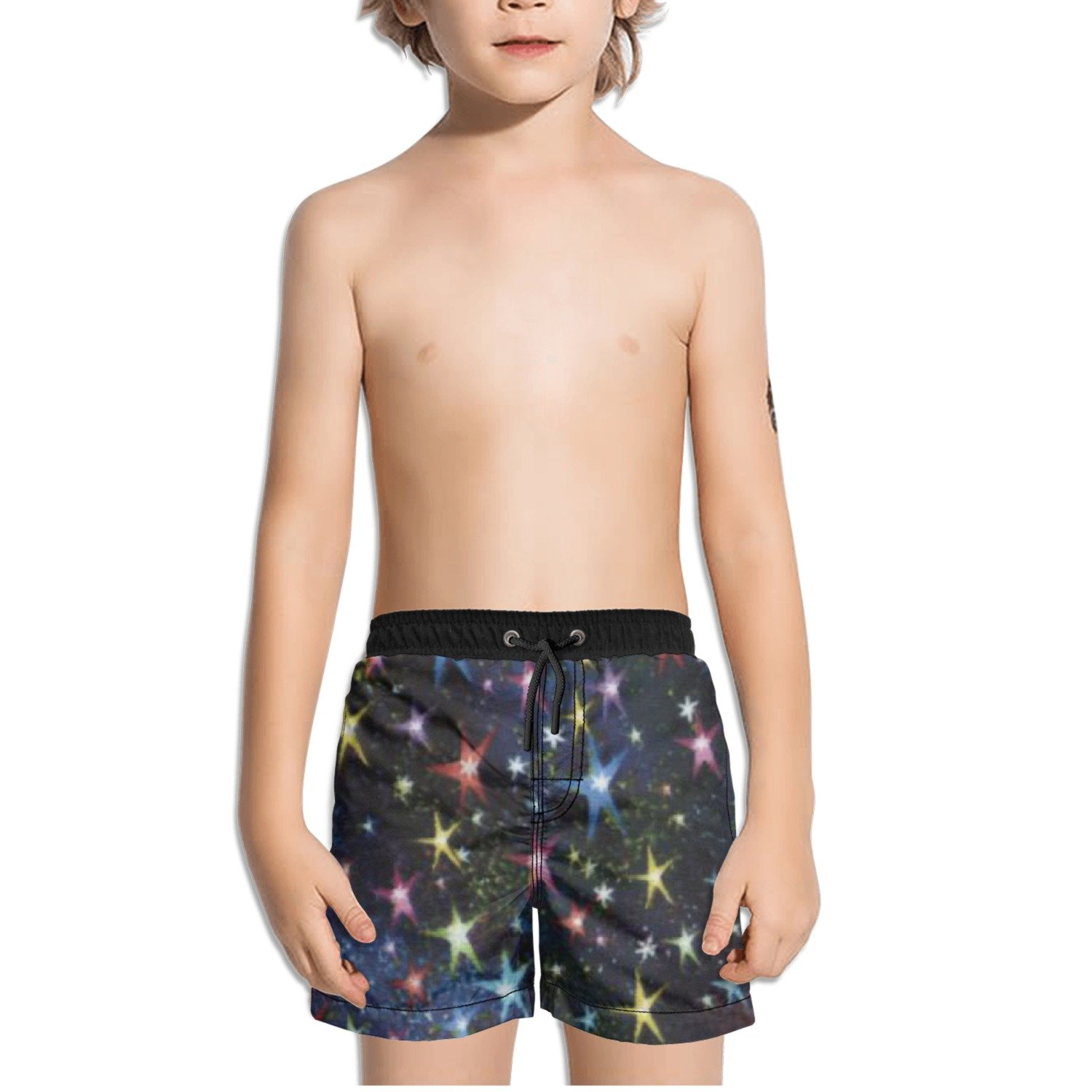 Ouxioaz Boys Swim Trunk Out of This World Twinkling Stars Star Beach Board Shorts