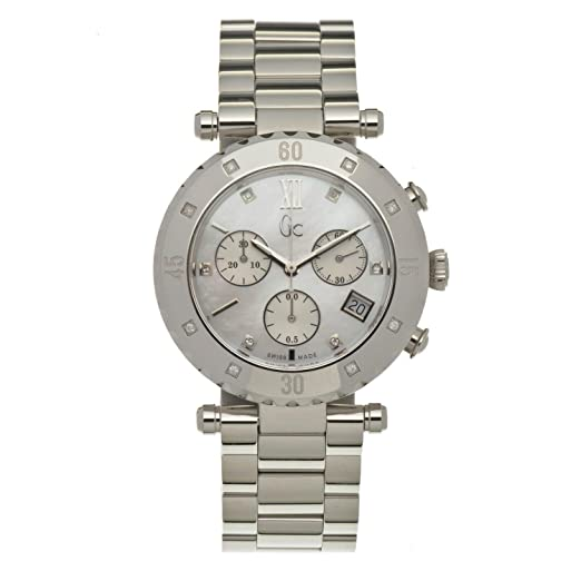 Reloj Guess Collection Gc Diver Chic 8 Diamond X42108m1s Unisex Nácar: Amazon.es: Relojes