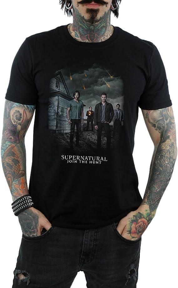 Supernatural Hombre Meteor Shower Camiseta XXX-Large Negro: Amazon.es: Ropa y accesorios
