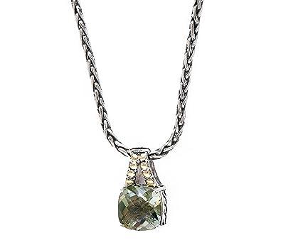 Amazon effy green amethyst pendant in sterling silver jewelry effy green amethyst pendant in sterling silver aloadofball Images
