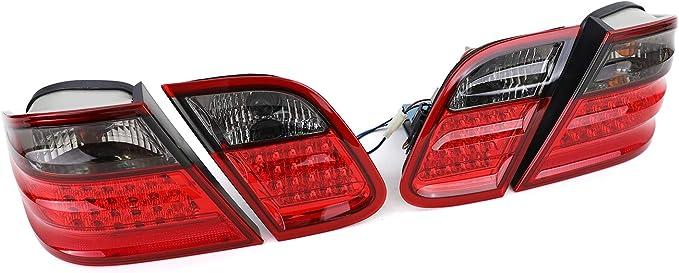 Carparts Online 12969 Led Rückleuchten Rot Schwarz Auto