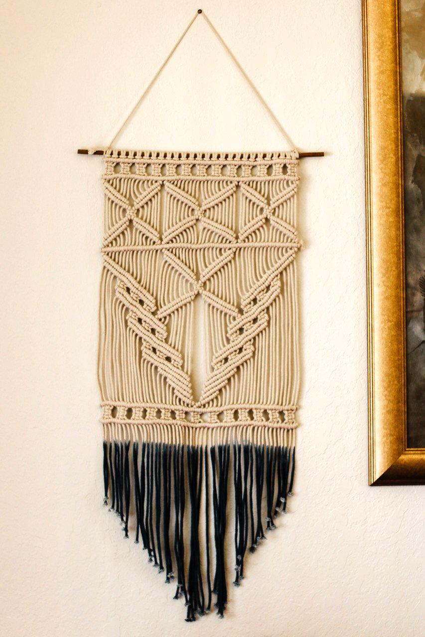 Woven Macrame Wall Hanging Handmade Tapestry Geometric Art Beautiful ...