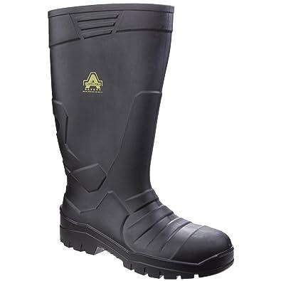 Amblers Safety Unisex AS1006 Sicherheitsgummistiefel für Erwachsene (39 EU) (Schwarz) XOzIC