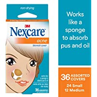 36 Count Nexcare Acne Cover Drug-Free Gentle Breathable Cover