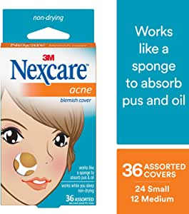 Nexcare Acne Cover, Invisible, 36 count