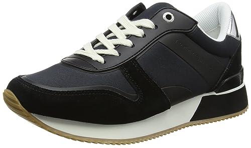 Tommy Hilfiger Mixed Material Lifestyle Sneaker, Zapatillas para Mujer: Amazon.es: Zapatos y complementos