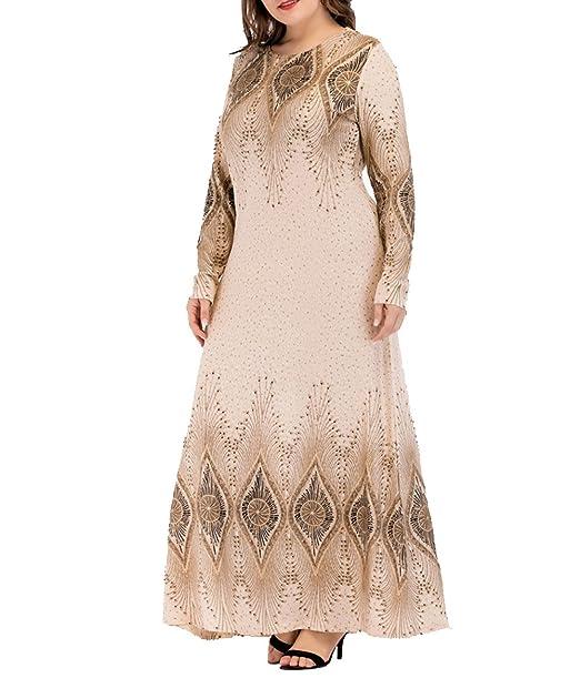 Musulman Abaya Vestido Maxi Dot Print Bat Manga Larga Túnica Estilo Kimono Suelto Vestidos Moda Caftan