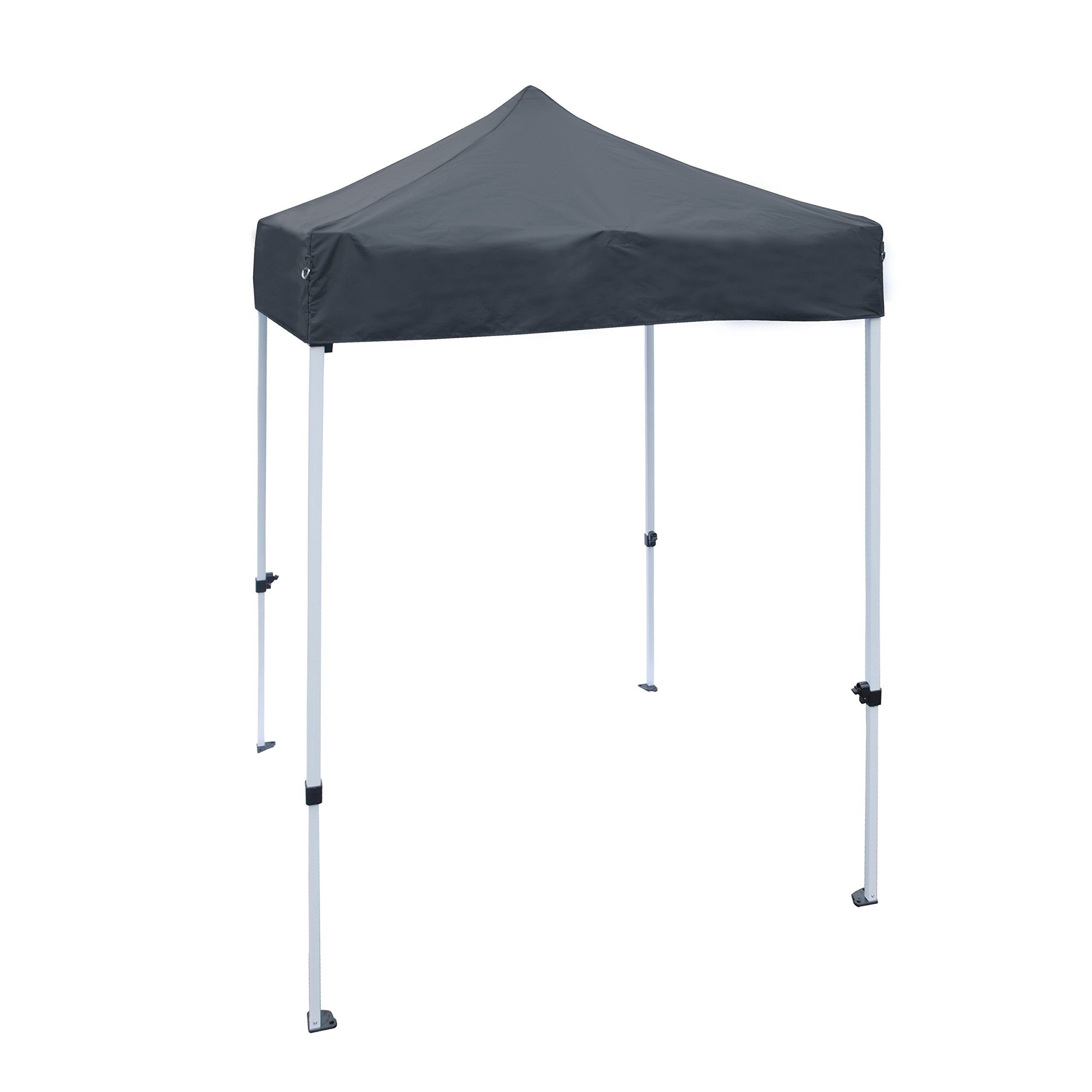 ALEKO GZF5X5BK Foldable Popup Polyester Gazebo Canopy Patio Coffee Shelter 5 x 5 Feet Black