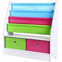 HOMFA Toy Storage Organizer Rack Kids Book Organizer Non-woven Fabric Storage Bin Bookcase Storage for Toddlers