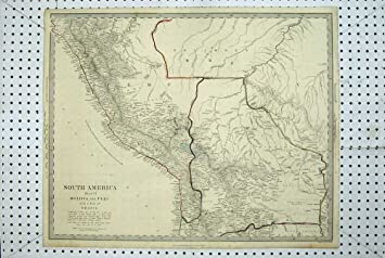 Peru Karte Südamerika.Antike Karte Südamerika Bolivien Peru Brasilien Solimoes Amazon De